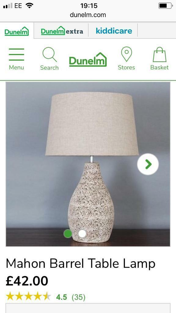 Dunelm mill mahon table lamp rrp 4200 in stockport manchester dunelm mill mahon table lamp rrp 4200 mozeypictures Choice Image