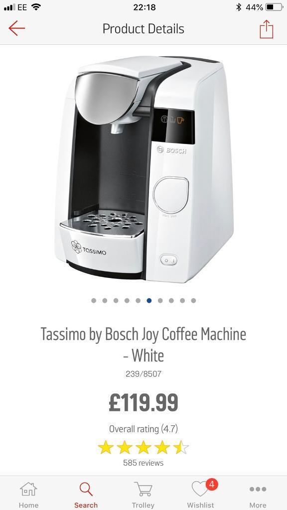 White Bosch Tassimo Coffee Machine In Middlesbrough North Yorkshire Gumtree