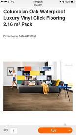 11 new packs of water resistant Colombian oak click vinyl flooring