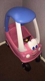 Pink Princess Little Tikes Cozy Coupe Car