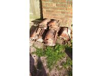 550+ used clay pan tiles. 35pence per tile or £200 for the lot
