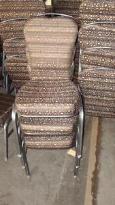Brown and Blue Stacking Chairs 100's Available $25.00 each