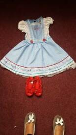 Girls Dorothy fancy dress costume aged 5-6