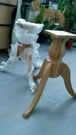 New dining room table legs oak homebase