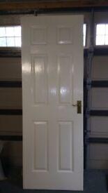 White internal door with handles