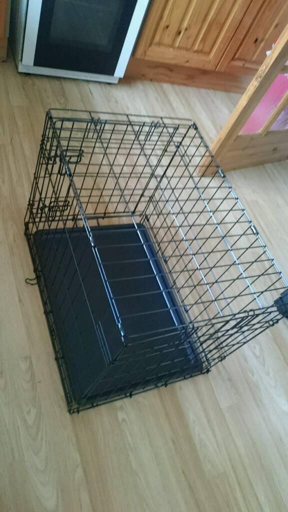 Used once dog cage