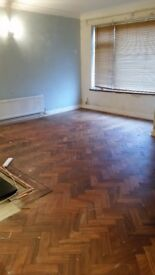Oak parquet wood bock flooring approx 17 sq m