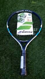 Babolar junior Wimbledon tennis racket new