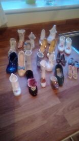 Minature china shoe and boot collection