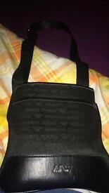 Armani pouch messenger bag