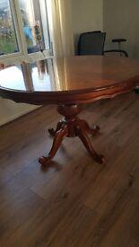 Round Mahogany Dining Table