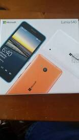Microsoft lumia 640 mobile phone