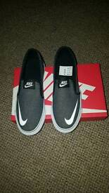 Brand new Nike Toki Slip on canvas shoes 5.5