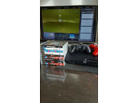PS3 500Gb slim version/ 2 game pads/ games inc GTA 5 - £100 Bargain!