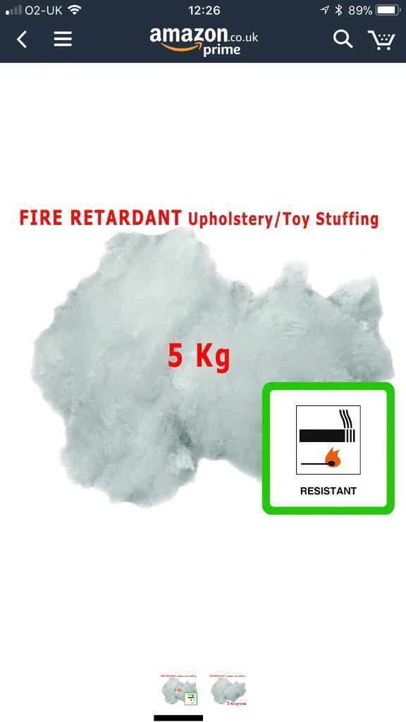 5kg Fire Retardant Polyester Hollowfibre Stuffing for Toys, Cushions & Upholstery