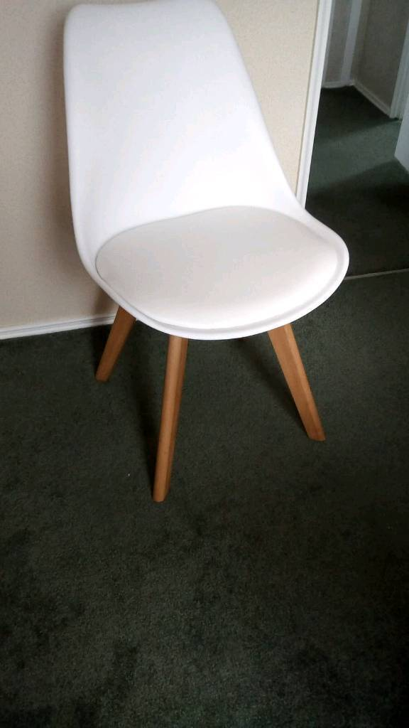 Fine 4 X White Modern Dining Chairs In Weston Super Mare Somerset Gumtree Home Interior And Landscaping Ologienasavecom