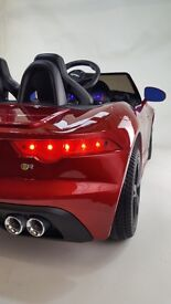 NEW JAGUAR F TYPE 12V RIDE ON TOY CAR WITH REMOTE - PHENOMENAL STYLING - WITH MP3 - MUST BE SEEN