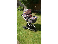 Cosatto Giggle 2 Fable - Pram / pushchair / car seat combination with all accessories