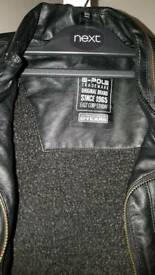 Real Black Leather Jacket- 12 years