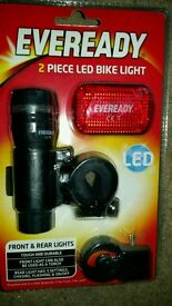 Ever ready 2 piece bike light set