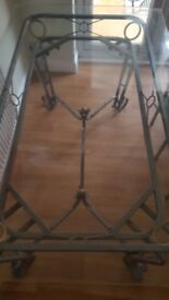 Glass table and 6 chairs in good condition
