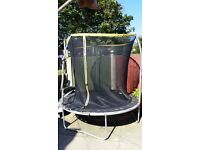 L@@K SPORTS POWER TRAMPOLINE WITH ENCLOSURE LIKE BRAND NEW