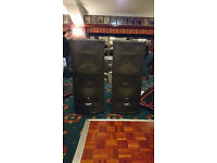 PAIR Mackie SR1530 Active PA Speakers Powered x2 plus sack truck