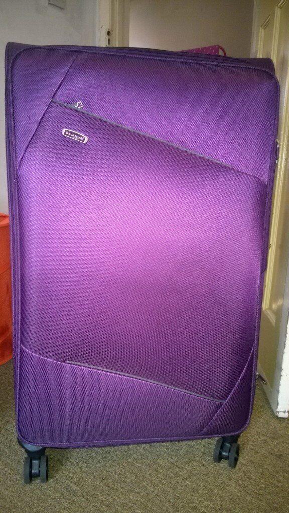Large Purple Suitcase on 4 Wheels | in Burnham, Berkshire | Gumtree