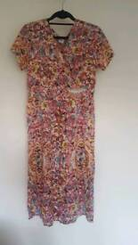 Brand new Cotton Traders Floral Print Waist Dress, size 12