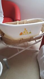 Mosses basket bath and baby seat