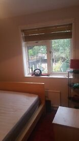 Newly painted double bedroom. Clean tidy in newly decorated home.