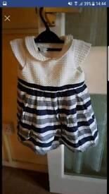 Girls Jasper conran dress 9-12 months