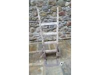 Old Antique wooden sack barrow trolley