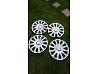 Fiesta wheel trims will fit 2009/2015 models