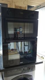 Stoves SGB900PS Gas built in double oven black