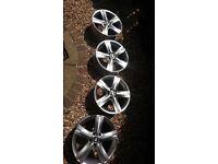 "4 Genuine vw passat fontana alloy wheels 17"""