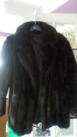 Faux fur jacket med/lge