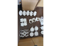 Air duct fittings (corners, outlet terminals, etc) 100mm white