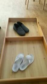 Wooden Under bed storage on casters