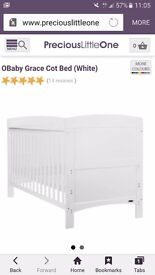 Obaby cot bed (white)