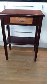 Attractive Hall Table With Drawer and Shelf