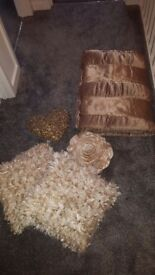 Double Gold bedspread and cushions