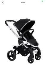 I candy peach 2 black magic with denim maxi cosi car seat