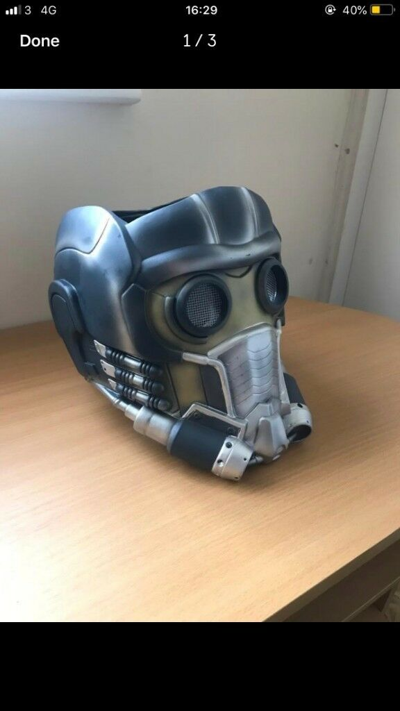 Official Star Lord Helmet Marvel Mask Cosplay Outfit Guardians Of