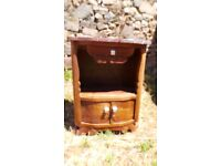 Vintage Retro French Bedside Table Cabinet - Chest Of Drawers Art Deco (14)