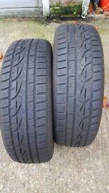 "2x 18"" SUV winter tyres 225/60R18 104V M+S Hankook Winter I*cept Evo (6mm)"