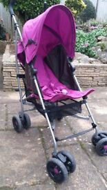 Mamas and Papas Pushchair with cosytoes, rainhood and parasol