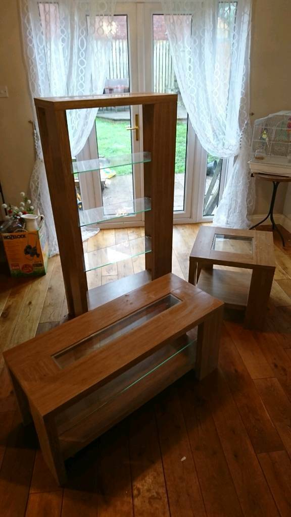 Tv Unit Glass Shelving Unit And Side Table In Tredegar