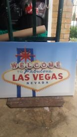 Las Vegas Welcome sign on canvas