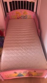 Disney princess toddler bed with mattress